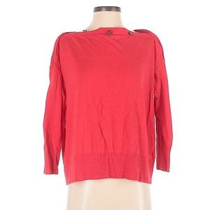 J Crew Red Off Shoulder Slouchy Sweater